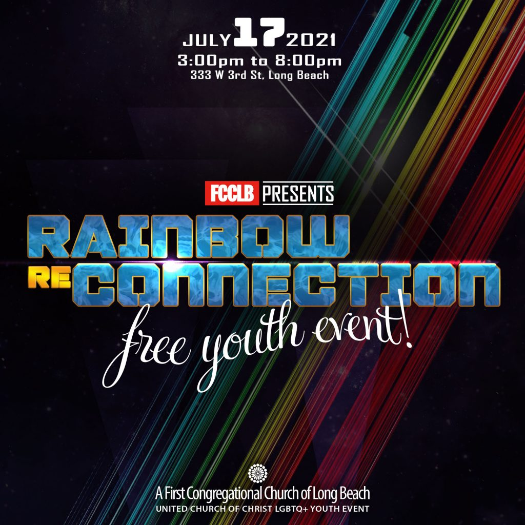 Rainbow Reconnection Flyer Square for Instagram